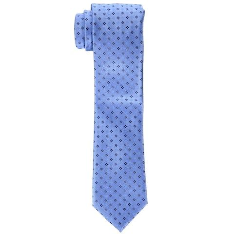 Tommy Hilfiger Men's Square Neat Tie Blue Size Regular