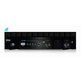 2-Channel Bridge-able Bluetooth Power Amplifier, Rack Mountable Audio Sound Amp, MP3/USB/SD Readers (1000 Watt)