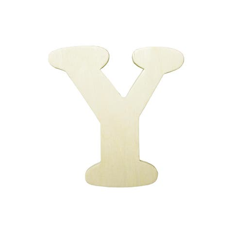9181-y darice wood shape unfin letter 4 25 y