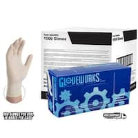 GLOVEWORKS Ivory Latex Industrial Powdered Disposable Gloves (Case of 1000)