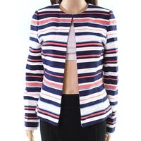 Tahari by ASL Women's Striped Open Front Jacket