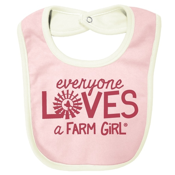 Farm Girl Western Bib Girls Everyone Loves OS Baby Pink