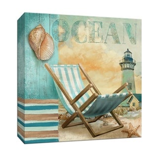 "PTM Images 9-146862  PTM Canvas Collection 12"" x 12"" - ""Ocean"" Giclee Beaches Art Print on Canvas"