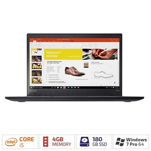 "Lenovo ThinkPad T470s 20HF005NUS with 14"" HD LED Backlight/180 GB SSD & 4 GB RAM"