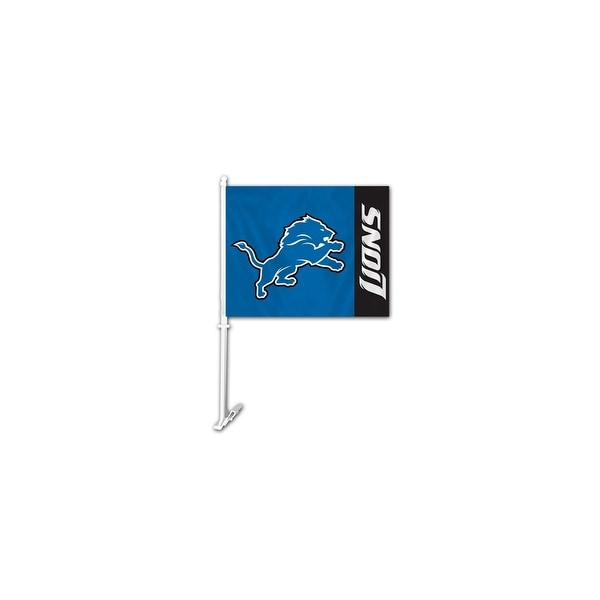 Fremont Die Inc Detroit Lions Car Flag With Wall Brackett Car Flag
