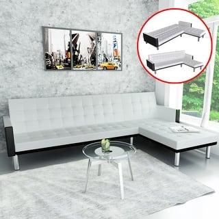 White, Faux Leather Living Room Furniture | Find Great ...