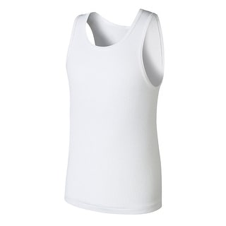 Boys' Hanes Ultimate ComfortSoft White Tank Undershirt 5-Pack - XL