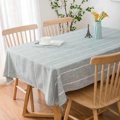 "Enova Home 54""x 78"" High Quality Rectangle Cotton and Polyester Tablecloth"