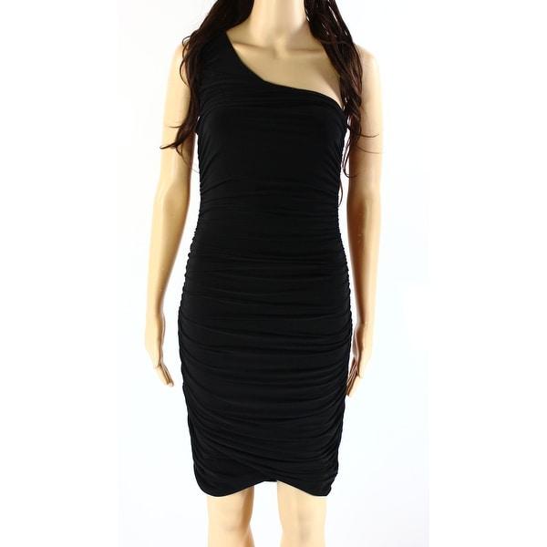 0eedd9e4304bc Shop Soprano Womens Small Ruched Stretch Bodycon Dress - Free ...