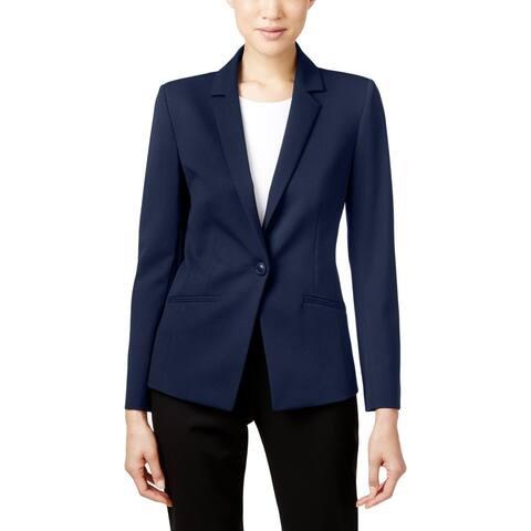 Tahari ASL Womens One-Button Blazer Office Professional
