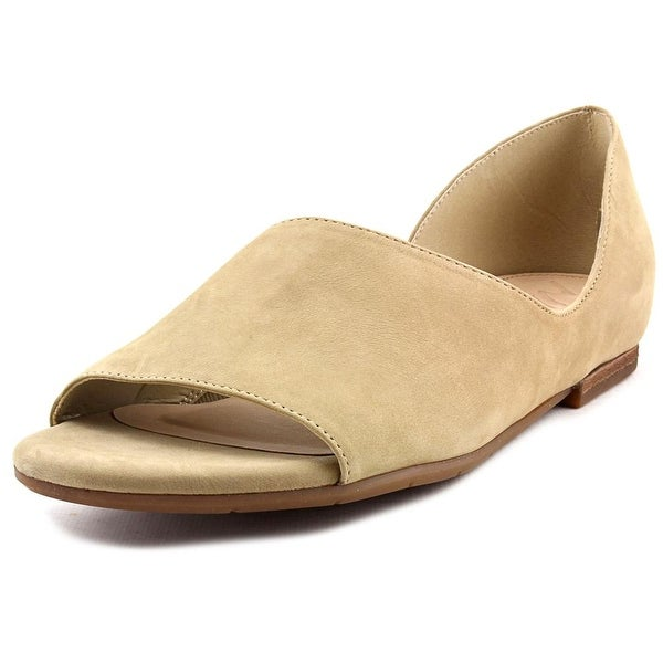 Naya Eleni Open-Toe Leather Flats