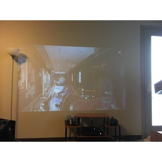 White 3200 Lumens FULL HD 1080P Home Cinema Theater LED LCD 3D Projector HDMI