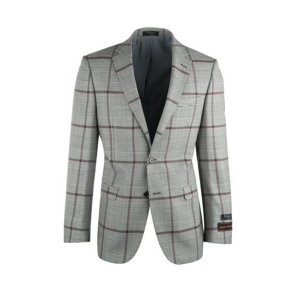 Sangria Cream and Black Houndstooth with Brown Windowpane Pure Wool Jacket Jacket by Tiglio Luxe. Opens flyout.