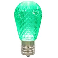 Club Pack of 25 LED Green Replacement Christmas Light Bulbs - E26 Base