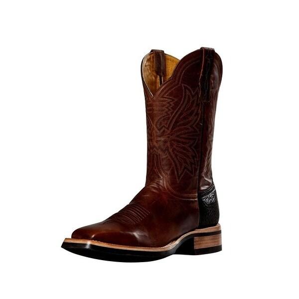 Cinch Western Boots Mens Cowboy Goat Square Toe Horseman Rust