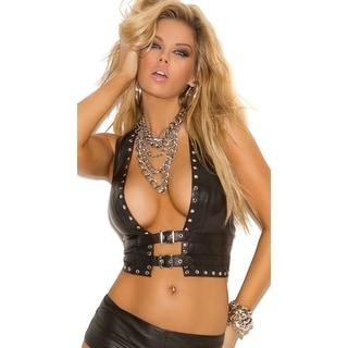 Studded Leather Vest, Black Leather Vest
