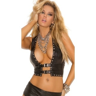 Studded Leather Vest, Black Leather Vest