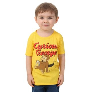 Boys Curious George Yellow T-Shirt