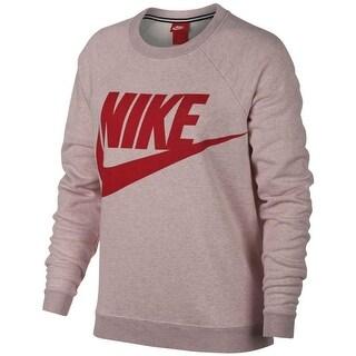 Nike Women's Sportswear Rally Fleece Top Particle Rose Size Large - L