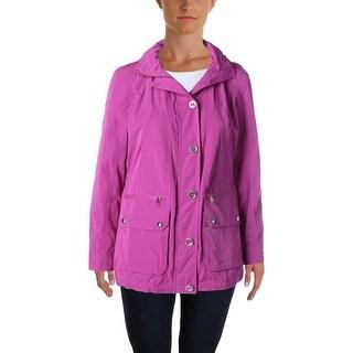 Lauren Ralph Lauren Womens Petites Hooded Outerwear Anorak Jacket