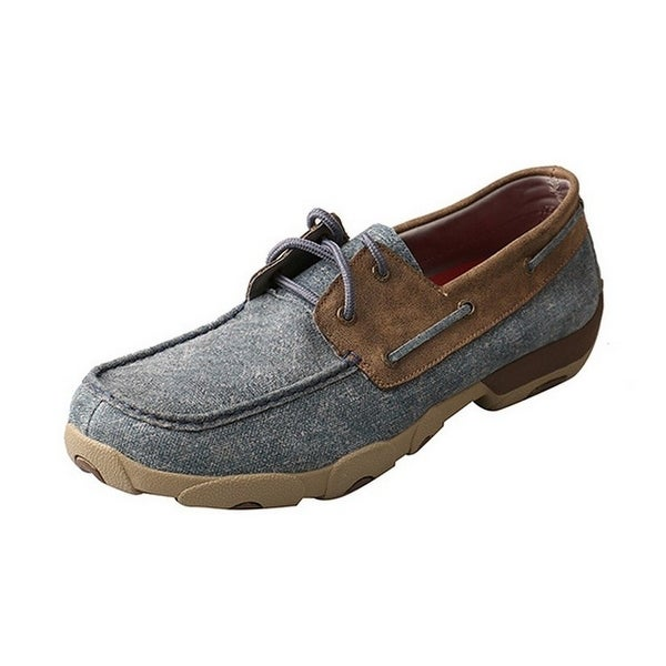 Twisted X Casual Shoes Mens D Toe Driving Mocs Blue Bomber