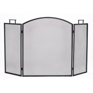 "Pleasant Hearth FA010S  Classic Fireplace Screen, 31"" W x 52"" H - Black"