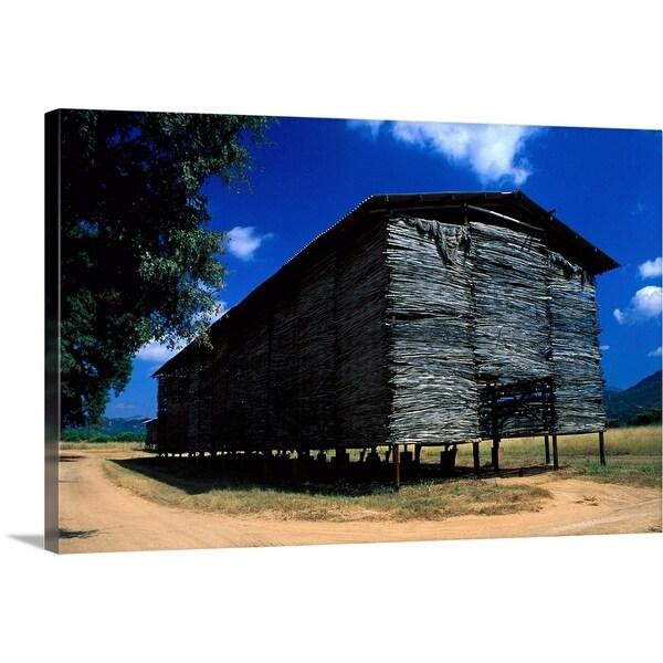 """Tobacco drying barn in the Vumba region, Zimbabwe, Africa"" Canvas Wall Art"