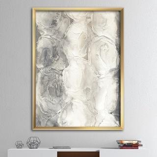 Link to Designart 'Gray Circles I' Modern & Contemporary Premium Framed Art Print Similar Items in Art Prints
