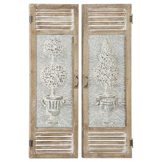 """Link to Large Wood And Metal Garden Door Wall Decor Panels Set Of 2 15"""" X 52"""" Similar Items in Wall Sculptures"""