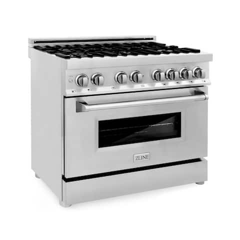 ZLINE Stainless Steel 36-inch Gas Burner/Electric Oven Range