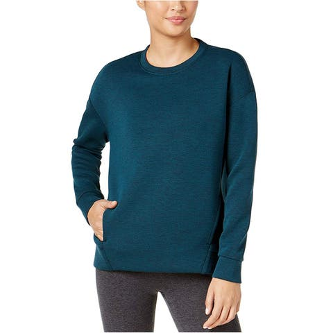 Women's Drop Shoulder Fleece Top Heather Dark Teal Size Medium by 32 Degrees Heat - Blue