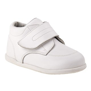 Smart Step Boys White Closure Wide Width Walking Shoes