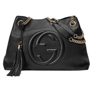 Gucci Soho Leather Chain Shoulder Handbag Black