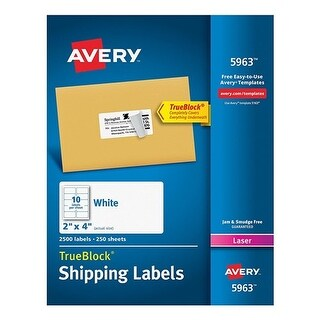 Avery Shipping Labels with TrueBlock Technology Shipping Labels with TrueBlock Technology