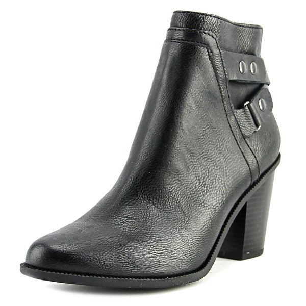 Bar III Dove Women Round Toe Synthetic Black Ankle Boot