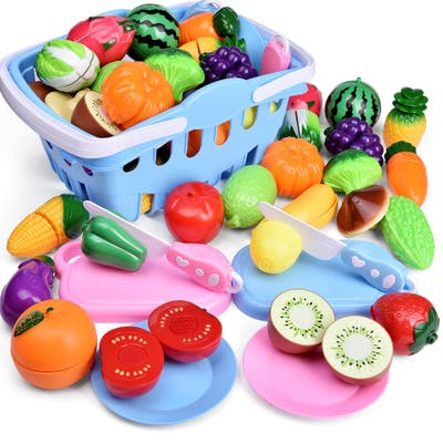 30 Piece Fruits and Vegetables Toy Play Set