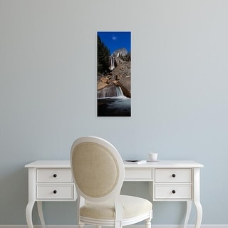 Easy Art Prints Panoramic Image 'View Of A Waterfall, Vernal Falls, Yosemite National Park, California' Canvas Art