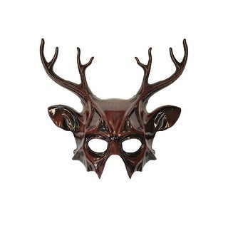 Pure Seasons Wicked Deer Head Mask (Brown) - Brown