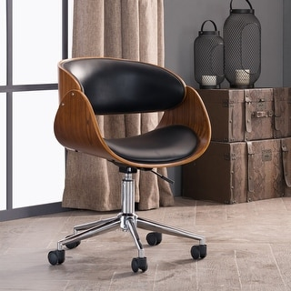 Corvus Mid-century Wood and Metal Adjustable Office Chair