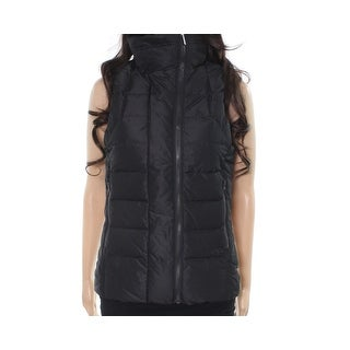 Helly Hansen NEW Black Womens Medium M S Quilted Full-Zip Vest Jacket