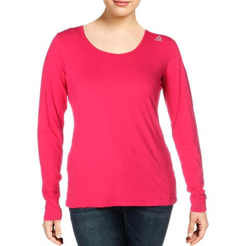Reebok Womens T-Shirt Fitted Active Wear - Pink Peacock
