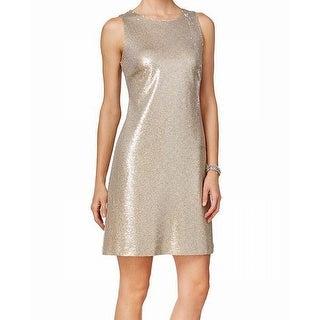 Tommy Hilfiger NEW Gold Women's Size 6 Sheath Sequin A-Line Dress