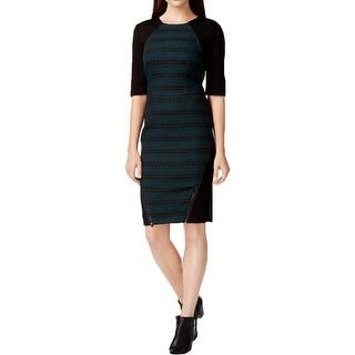 Rachel Rachel Roy Womens Wear to Work Dress Jacquard Elbow Sleeves