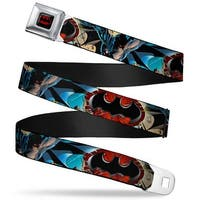 Batman Full Color Black Red Flashpoint Batman Action Pose Shattered Bat Seatbelt Belt