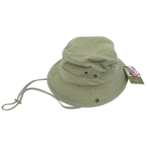 de7e44046 Dorfman Pacific Men's Twill Khaki Bucket Hat