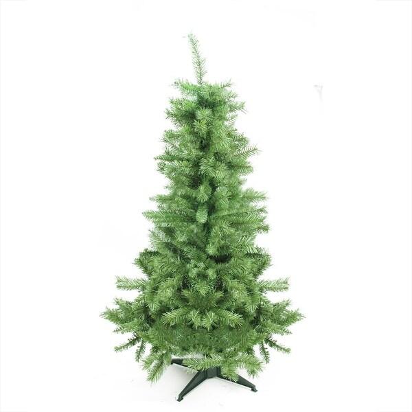 "4.5' x 28"" Slim Mixed Pine Artificial Christmas Tree - Unlit - green"