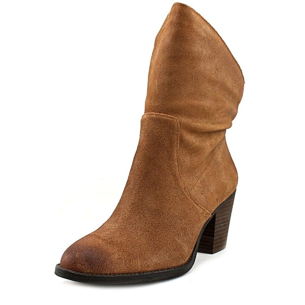 Nine West Fraisse Women Round Toe Suede Brown Ankle Boot