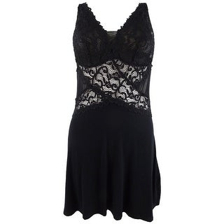 Link to INC Women's Ultra Soft Lace Detail Knit Chemise Nightgown Similar Items in Intimates