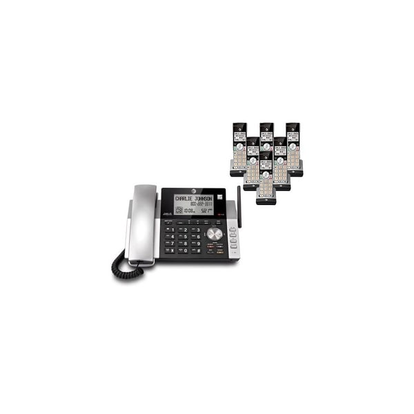 AT&T CL84215 plus (4) CL80115 Corded / Cordless Phone