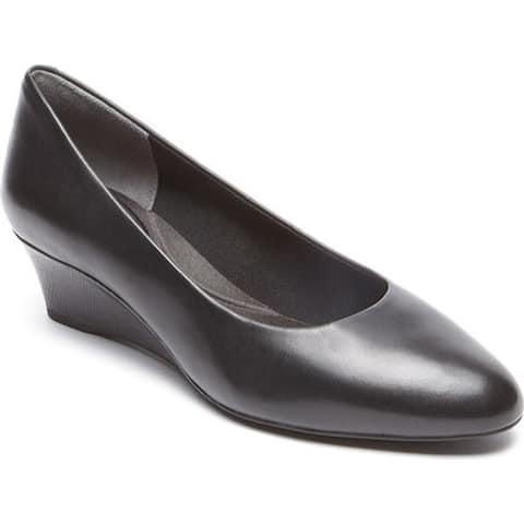 Rockport Women's Total Motion Catrin Plain Pump Black Leather